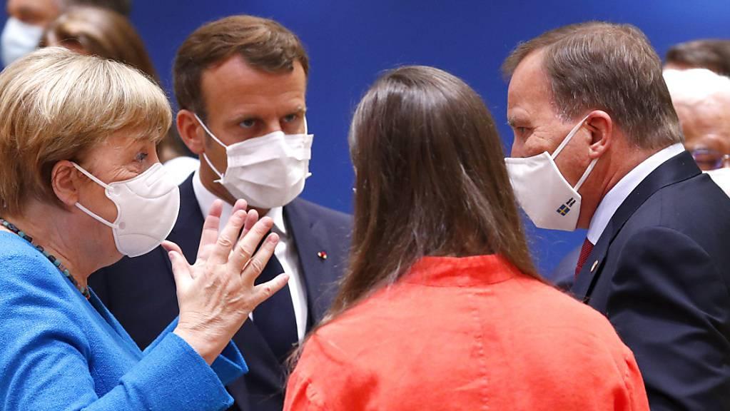 Auf dem EU-Gipfel in Brüssel trugen viele Teilnehmer Schutzmasken.