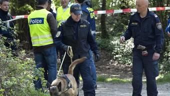 Dutzende Personen und mehrere Suchhunde waren im Einsatz