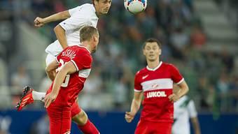 Marco Mathys traf für St. Gallen per Kopf zum 1:1-Ausgleich