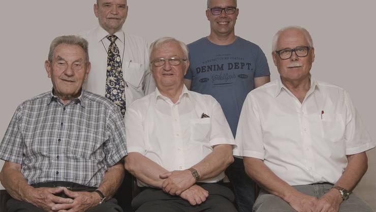 Präsidium Jubiläums-OKv.l.Kurt Hagmann, Rolf Wuethrich, Rolf Büttiker, Philipp Hengartner, Rolf Graf