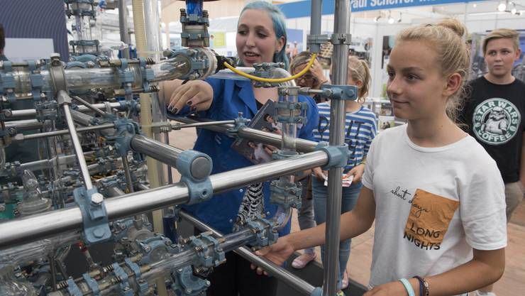 «Lena» bietet viele Angebote. Im Bild die Berufsschau in Wettingen.