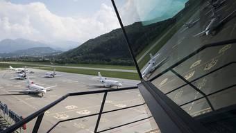 Über die Zukunft des Flughafens Lugano-Agno entscheidet das Stimmvolk wegen der Coronakrise zu einem späteren Zeitpunkt.