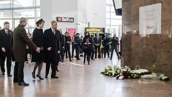 Brüssel gedenkt zum Jahrestag der Terror-Anschläge den Opfern