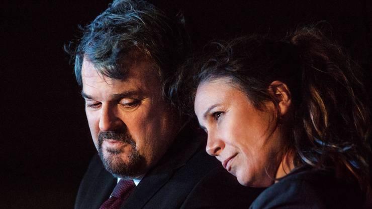 Ein ewiges Hin und Her: Luc Conrad und Anna-Maria Giovanoli.