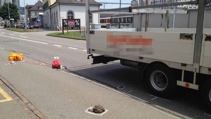 Der Unfall ereignete sich in der Nähe des Brugger Bahnhofs.