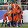 Durften beim Viertelfinal-Kantersieg gegen Mexiko nicht weniger als sieben Mal jubeln: die Spieler von Chile