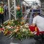Grosse Anteilnahme: Auf diesem Gleis am Frankfurter Hauptbahnhof starb der 8-jährige Bub. Bild: Frank Rumpenhorst/Keystone (30. Juli 2019)