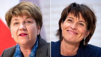 Viola Amherd (links) gilt als kompetent und fleissig – die Strahlkraft Doris Leuthards geht der Walliserin aber ab.