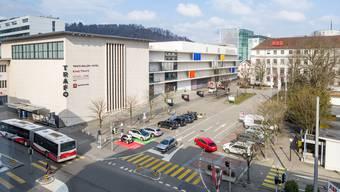 Unter dem – dann neu gestalteten – Brown-Boveri-Platz soll dereinst ein Parkhaus für 500 Fahrzeuge entstehen.