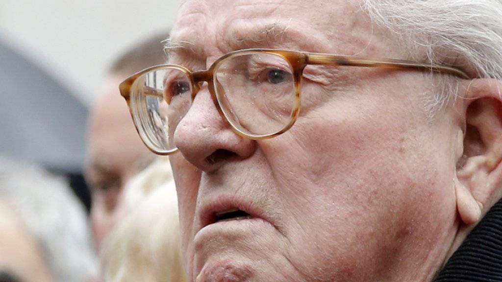 Jean-Marie Le Pen wurde der Leugnung von Verbrechen gegen die Menschlichkeit schuldig gesprochen. (Archivbild)
