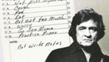 Johnny Cash brachte mit einer Liste Ordnung in sein Leben.