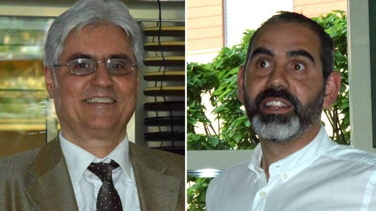 Links Altersheimleiter Leonardo Stanca, rechts Lucio Stanca, Leiter ab 2021.