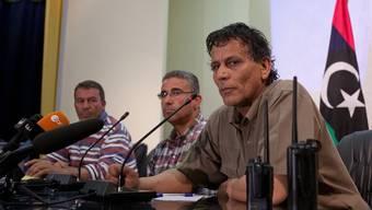 Medienkonferenz in Misrata - die Rebellenvertreter im Fokus
