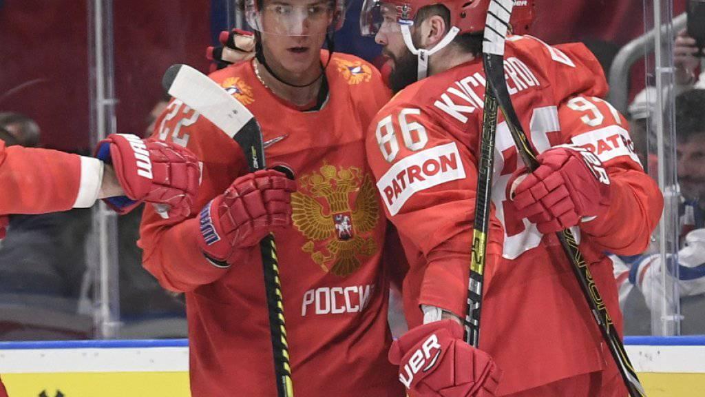 Russland wurde das erste Mal an dieser WM gefordert
