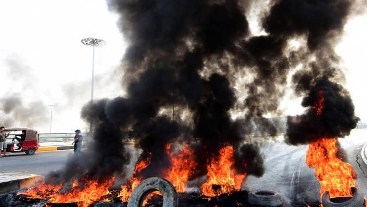 Die Wut der Bürger in den Strassen von Bagdad.