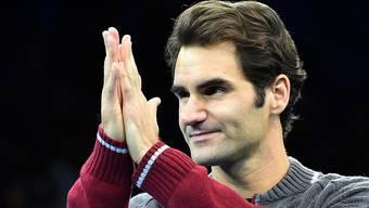 Hoffentlich hilft nicht nur noch beten: Roger Federer bedankt sich beim Publikum in London für das Verständnis.