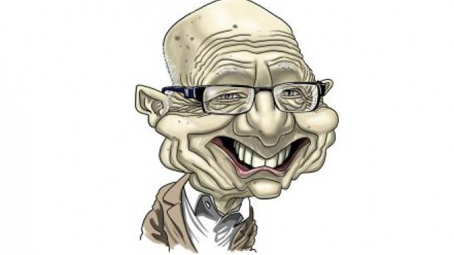 Beni Thurnheer, wie er 2034 aussehen könnte. Illustration: Silvan Wegmann