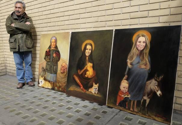 Heiligenbilder zu Ehren von Kate