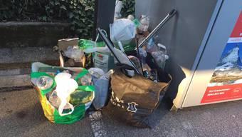 Rund 183'000 Kilogramm illegal entsorgter Müll kommt in Olten dieses Jahr zusammen.