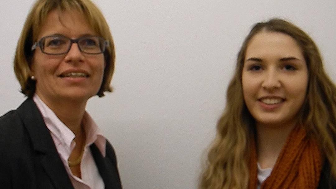 FDP-Kantonsrätin Karin Büttler und Stefanie Meer