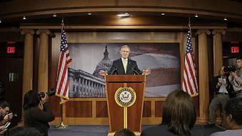 Harry Reid spricht vor Medienvertretern in Washington