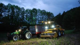 Nachtarbeit in der Landwirtschaft lässt sich nicht immer vermeiden.
