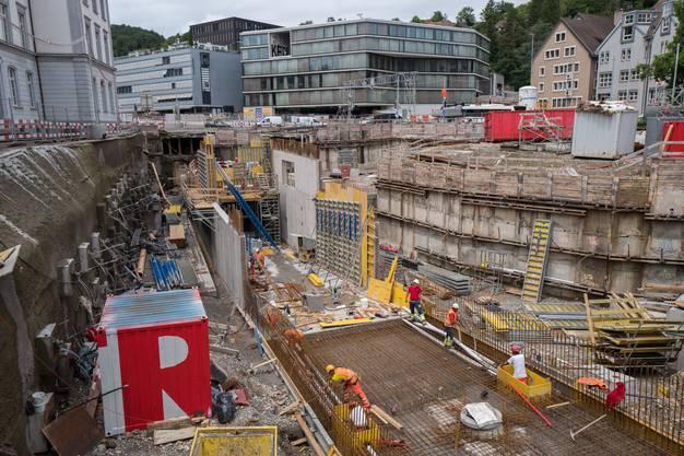 So sieht die Baustelle heute aus