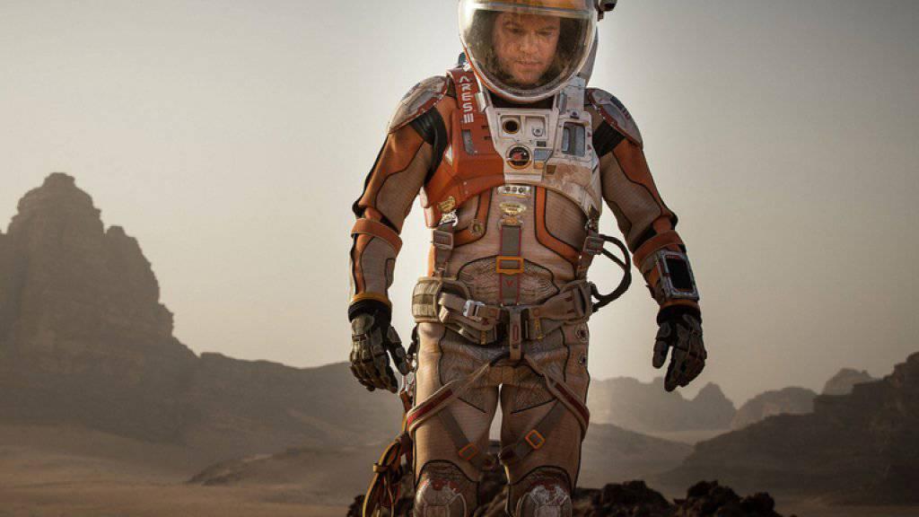 """In Ridley Scotts """"The Martian"""" spielt Matt Damon einen Kartoffeln pflanzenden Astronauten (Archiv)"""