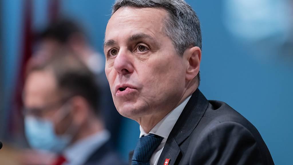 Cassis: Schweiz wird nicht zwischen USA und China aufgerieben