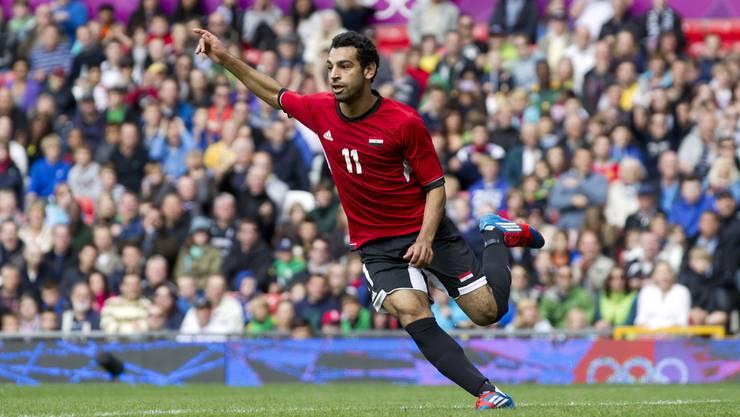 Mohamed Salah bei den Olympischen Spielen in London