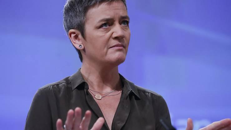 """Die EU-Wettbewerbskommisarin Vestager aus Dänemark hat mit Italien während Monaten über eine """"Bad Bank"""" verhandelt. Jetzt haben sich die beiden Seite auf eine Ausgestaltung geeinigt. (Archivbild)"""