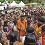 Weil ein bedeutender Tempel im südlichen Indien für Frauen geöffnet werden sollte, haben Hindu-Hardliner protestiert und Journalistinnen und Pilgerinnen angegriffen.