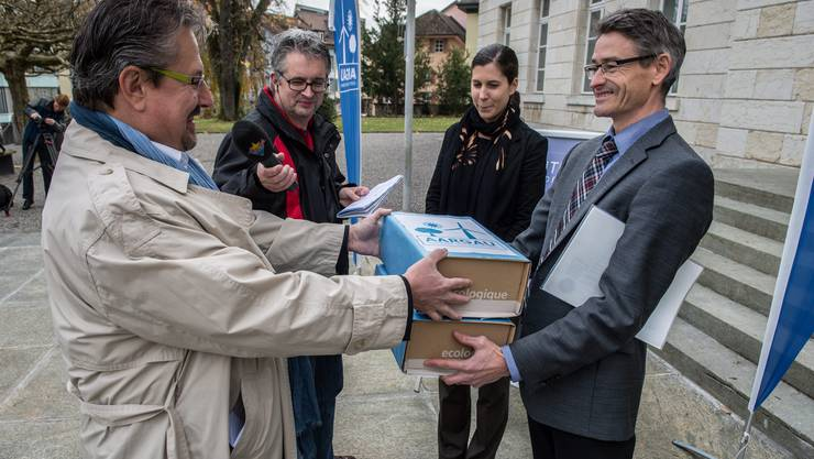 Die Aargauer Energieinitiative «Aargau effizient und erneuerbar» wird eingereicht (Archivbild)