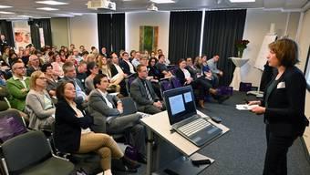 Gut 120 Kaderpersonen liessen sich über die künftigen Aufgaben der Spitex informieren.