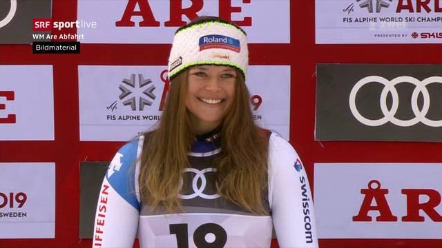 Corinne Suter krallt sich in der Abfahrt WM-Silber