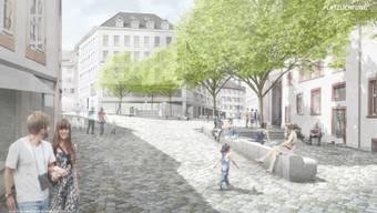 Der Quartierverein «Lääbe in der Innerstadt» wehrt sich gegen die Umgestaltung des Rümelinsplatz. Der Verein ist gegen die Fällung und Ersetzung von vier Bäumen.