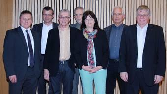 Der frisch gewählte Vorstand des Planungsverbandes Regio Fricktal.