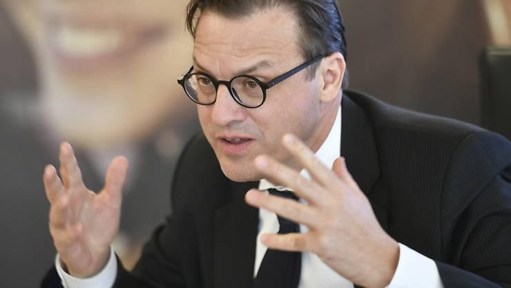 Dem Geschäftsbericht der Swiss Life lässt sich sein Gehalt entnehmen: Patrick Frost (Bild vom 26. Februar 2019).