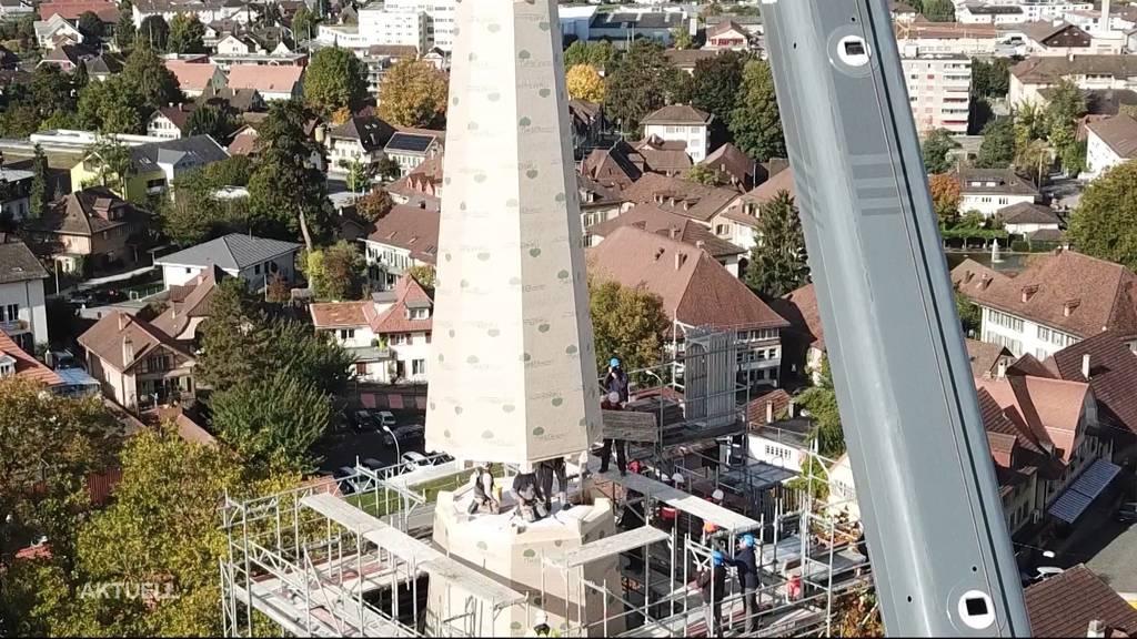 Nach Brand: Neue Turmspitze für die reformierte Kirche in Herzogenbuchsee