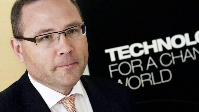 Der Saab-CEO Haakan Buskhe sagt, sein Handy sei abgehört worden (Archiv)