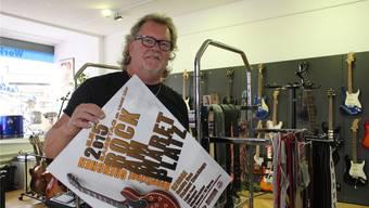 Kurt Gilomen in den Räumen seines Musikgeschäfts, das er an der Löwenkreuzung am 11. August wiedereröffnen wird.
