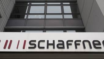 Das Logo von Schaffner beim Firmensitz in Luterbach  SO