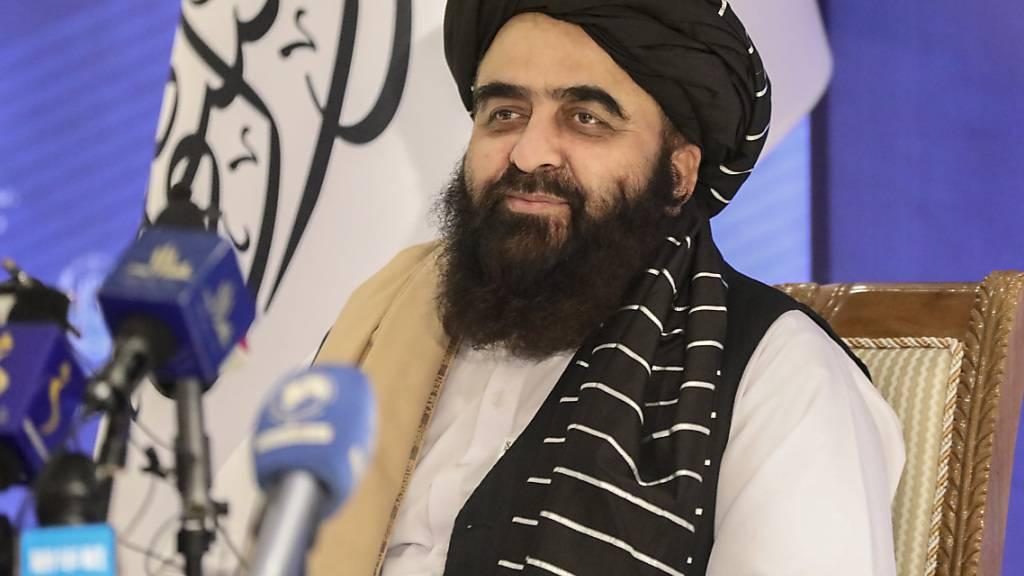 Amir Chan Motaki, Außenminister des neuen Kabinetts der Talibans. Foto: Muhammad Farooq/AP/dpa