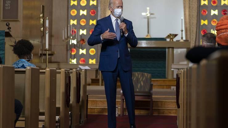 Joe Biden sprach zu und mit Afroamerikanern – später auch mit Jacob Blake.