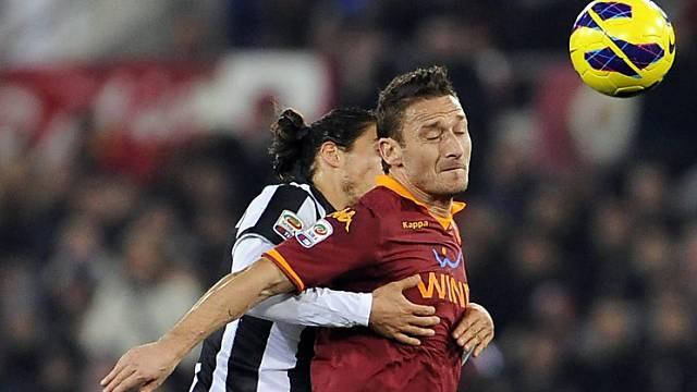 Torschütze Francesco Totti (r.) in Aktion