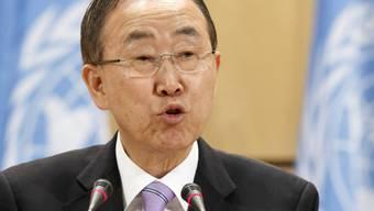 UNO-Generalsekretär Ban Ki Moon vor der UNCTAD-Versammlung (Archiv)