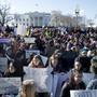 Protestierende Jugendliche am Mittwoch vor dem Weissen Haus in Washington.