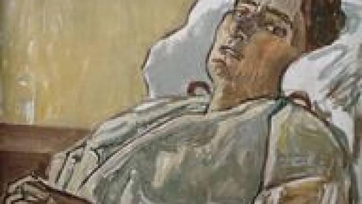 """Ferdinand Hodler (1853-1918) malte das Bild """"Valentine Godé-Darel im Krankenbett"""" 1914. (Archiv)"""