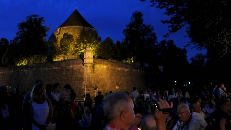 Just nachdem der Regen vorbeigezogen war, begann in Solothurn die Bundesfeier. Diese wurde wie jedes Jahr beim Soldatendenkmal am Vaubanweg abgehalten.