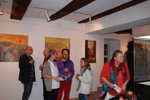 Vernissage in der Kaister Mühle mit Werken von Gabriel Kramer